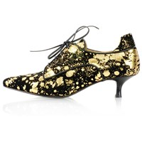 Kim Kwang Moonlight Effect Kitten Heel Gold Black