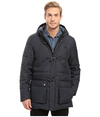 Calvin Klein Padded Toggle Coat Officer Navy Men's Coat
