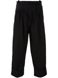 J.W.Anderson Draped Detail Cropped Trousers Black