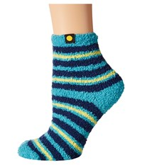 Life Is Good Lightweight Snuggle Crew Sock Teal Blue 2 Women's Crew Cut Socks Shoes
