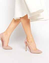 New Look Robby Nude Mesh Heeled Court Shoes Oatmeal