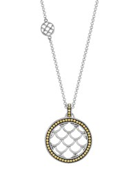 Naga Gold And Silver Round Drop Pendant Necklace John Hardy Red