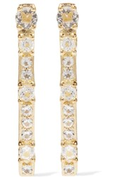 Elizabeth And James Twiggy Gold Tone Crystal Earrings Metallic