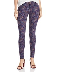 J Brand Mid Rise Super Skinny Jeans In Eclipsed Paisley