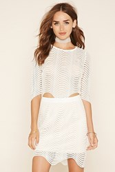 Forever 21 Crochet Mini Skirt