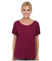 Lole Concord Top Mulberry Women's Short Sleeve Pullover Purple