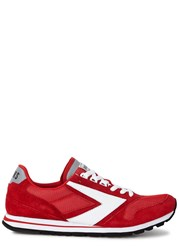 Brooks Chariot Red Suede Trainers