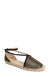 Jimmy Choo 'Donna' Espadrille Flat Women Black Gold