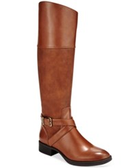Sam Edelman Circus By Parker Buckle Tall Riding Boots Women's Shoes Whiskey