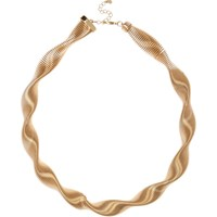 River Island Womens Gold Tone Twisted Necklace