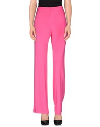Clips Trousers Casual Trousers Women Fuchsia
