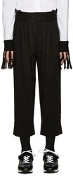 J.W.Anderson Black Twill Baggy Trousers