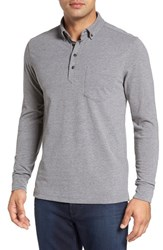 Nordstrom Men's Men's Shop Brushed Jersey Polo Grey Dark Charcoal Heather