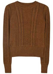 Etoile Isabel Marant Kalyn Brown Cable Knit Jumper