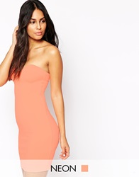 Oh My Love Bandeau Bodycon Dress Tangerine