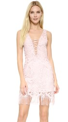Saylor Elana Fringe Crisscross Dress Blush