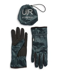 Ur Powered Packable Faux Fur Lined Gloves Forest Green