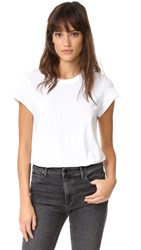 Alexander Wang Cap Sleeve Fitted Tee Bodysuit White