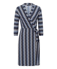 Olsen Zig Zag Dress Denim