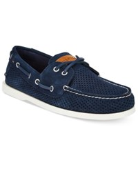 Tommy Hilfiger Men's Bowman 3 Perforated Boat Shoes Men's Shoes Blue