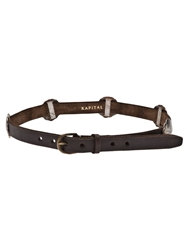 Kapital Distressed Leather Belt Brown