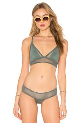 Les Coquines Ava Mesh Triangle Top Green