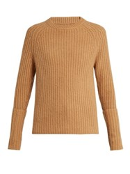 Joseph Extended Cuffs Cashmere Sweater Camel