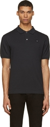 Acne Studios Black Cotton Piqu Kolby Polo