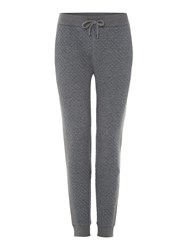 Michael Kors Quilted Front Drawstring Tracksuit Bottoms Grey