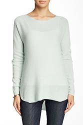 14Th And Union Hi Lo Cashmere Sweater Green