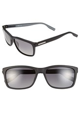 Men's Boss 57Mm Polarized Retro Sunglasses Matte Black