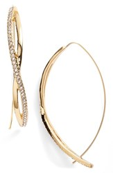 Jules Smith Designs Women's Jules Smith Pave Crystal Twist Hoop Earrings Gold