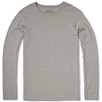 Nanamica Coolmax Loopwheel Long Sleeve Jersey Tee Heather Grey