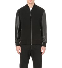 Blood Brother Alpha Leather Bomber Jacket Black