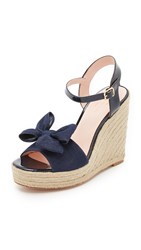 Kate Spade Darya Espadrille Wedge Sandals Blue