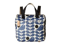 Orla Kiely Early Bird Print Small Backpack Granite Backpack Bags Gray