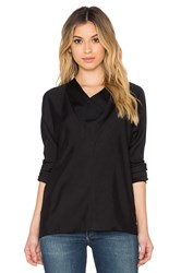 James Perse Triangular Cowl Top Black