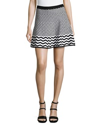 Romeo And Juliet Couture Chevron Knit Skirt Black White
