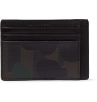 Burberry Camouflage Print Pvc And Leather Cardholder Green