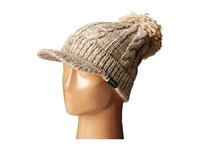 Woolrich Wool Blend Chunky Cable Knit Slouch Radar With Matching Pom Natural Knit Hats Beige