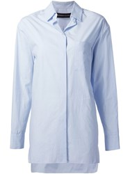Alexandre Vauthier Long Shirt Blue