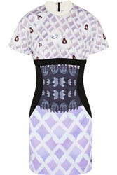 Adidas Originals Mary Katrantzou Lola Satin Jersey Mini Dress Violet