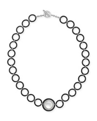 Alor Mother Of Pearl Circle Link Necklace With Diamonds