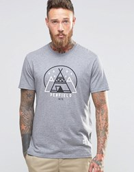 Penfield Wigwam Logo T Shirt Grey
