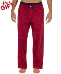 Tommy Hilfiger Men's Printed Woven Pajama Bottoms Henna