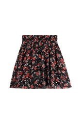 The Kooples Printed Silk Chiffon Skirt Florals