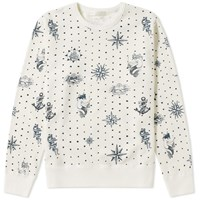 Alexander Mcqueen Tattoo Print Crew Sweat White