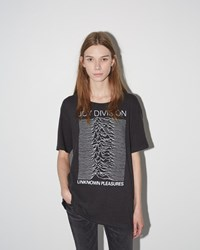 R 13 Joy Division Graphic Rosie Tee Washed Black