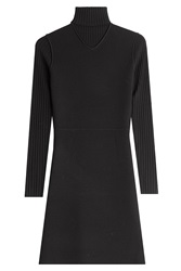 Theory Wool Turtleneck Sweater Dress Black