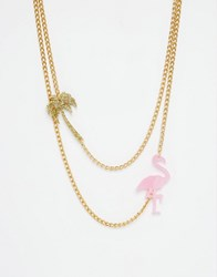 Suzywan Deluxe Suzywan Summer Fun Layering Necklace Gold And Pink